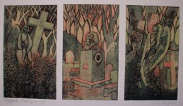 A Triptych of Highgate Cemetry.